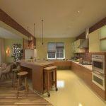 Маленький уют женской души в стильной кухне большого дома