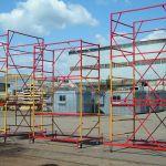 Мобильная конструкция строительной вышки туры