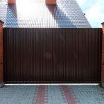 Положительные качества откатных ворот