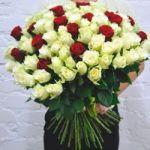 Шикарный букет из 101 розы для любимой женщины