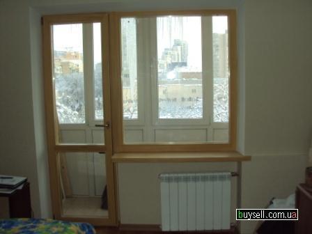 Деревянные балконные блоки в рассрочку,  балконная дверь,  выход на ба изображение 2