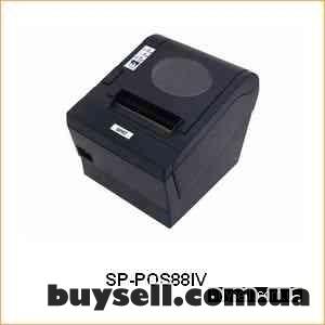 Чековый принтер с автообрезкой Pos88V,  термопринтер чеков до 80 мм