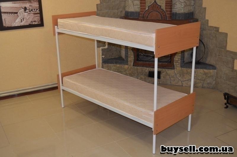 Кровати металлические двухъярусные для хостелов. изображение 3