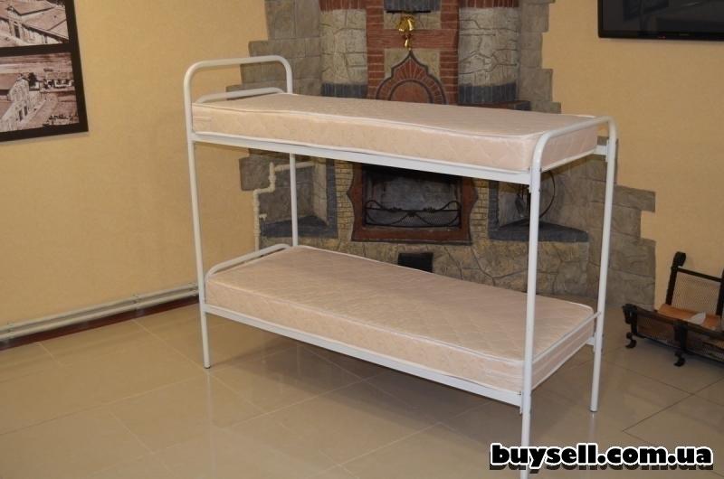 Кровати металлические двухъярусные для хостелов. изображение 4
