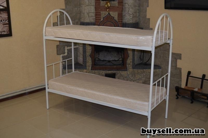 Кровати металлические двухъярусные для хостелов. изображение 2