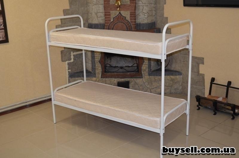 Кровати металлические двухъярусные для хостелов. изображение 5