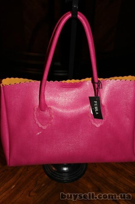 Сумка Furla Futura Rosada Leather Shopper,  оригинал изображение 4