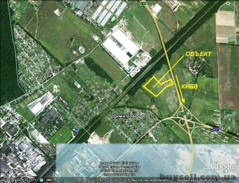 5 и 10 га Димитрово-Бровары промышленное назначение,  фасад трассы М01 изображение 2