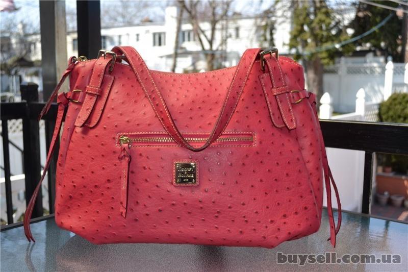 Сумка Dooney & Bourke Ostrich Nina Bag,  оригинал изображение 5