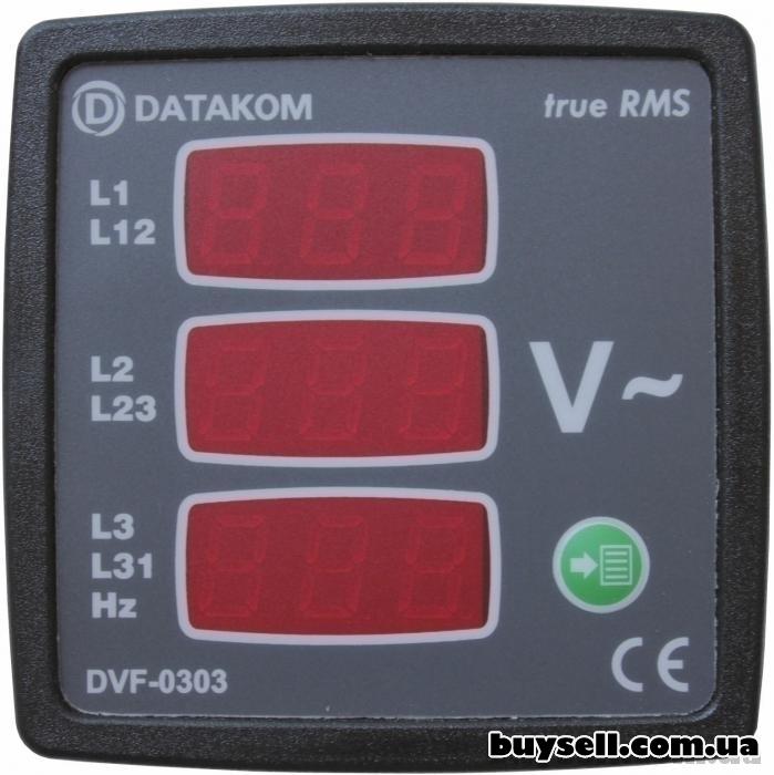 DATAKOM DVF-0303 вольтметр-частотомер 72х72 мм