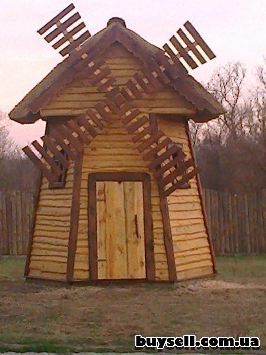 Мельница  декоративная из дерева изображение 5