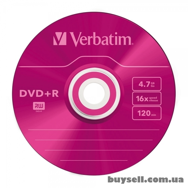 Verbatim DVD+R 4. 7GB 16X Colour Slim 5шт (43556) изображение 5