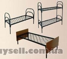Металлические кровати с ДСП спинками для больниц,  кровати для гостини изображение 2