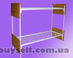 Металлические кровати с ДСП спинками для больниц,  кровати для гостини изображение 3