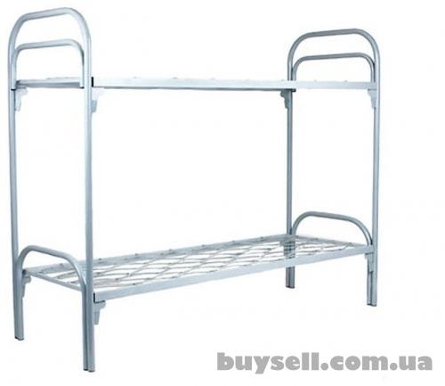 Двухъярусные металлические кровати оптом.  Кровати для общежитий,  кро изображение 3
