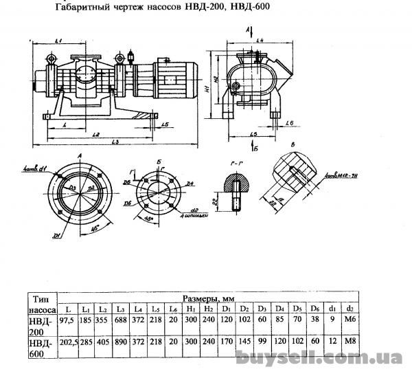 Насос вакуумный  двухроторный  НВД-200,  НВД-600