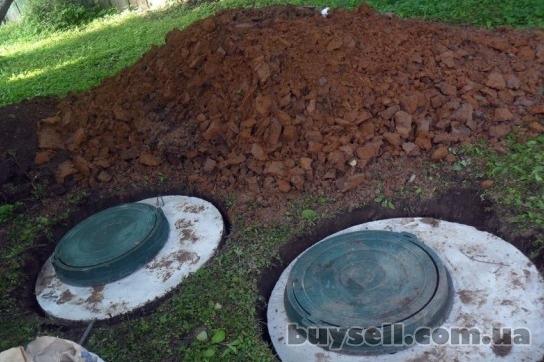Копка колодцев, копка сливных ям (септики) ,  канализации,  ж/б кольца