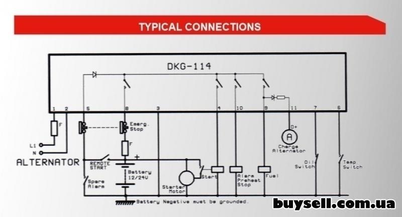 DATAKOM DKG-114 модуль ручного и удаленного пуска изображение 2