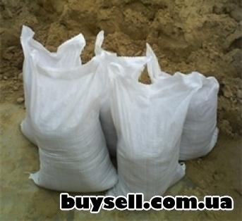 Песок овражный  в мешках,     фасованный 50кг,     доставка по Киеву и