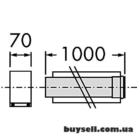 Труба удлинительная Vaillant 80/125мм.х1,0м. ППР арт. 303203 изображение 4