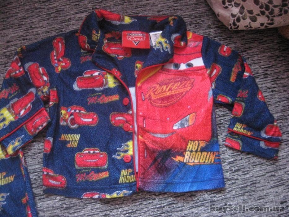 супер крутая пижамка с тачками моднику disney на 18 мес. изображение 2