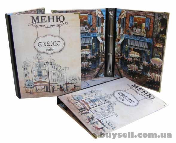 Папки меню,  счетницы изготовление эксклюзивных папок меню в Киеве изображение 3