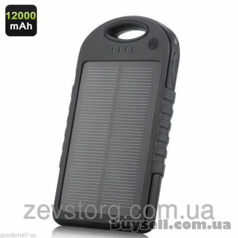 Solar Charger Power Bank 12000 mAh черный