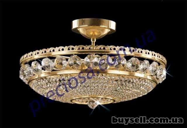 1) Чешские хрустальные люстры, бра, настольные лампы изображение 5
