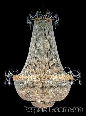 1) Чешские хрустальные люстры, бра, настольные лампы изображение 4