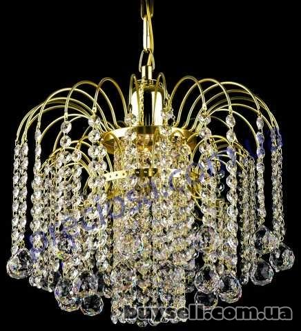 1) Чешские хрустальные люстры, бра, настольные лампы