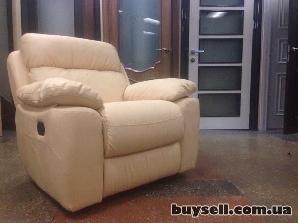 Кресло Реклайнер Вега (Итальянский кож-зам)  Кремовый.  Новый. изображение 2
