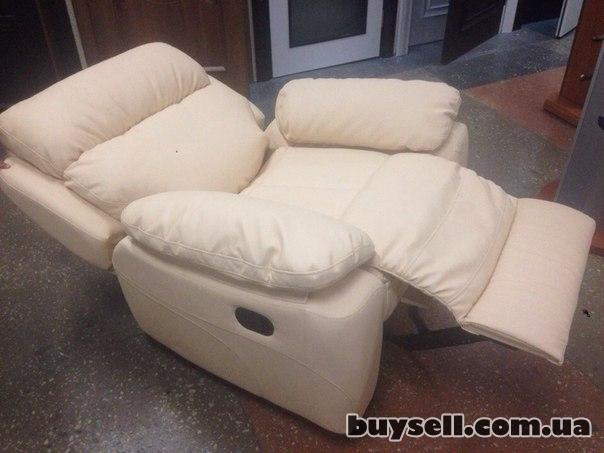 Кресло Реклайнер Вега (Итальянский кож-зам)  Кремовый.  Новый. изображение 4