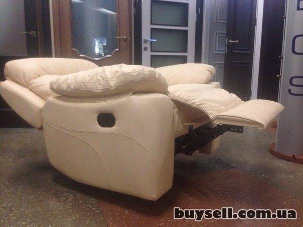 Кресло Реклайнер Вега (Итальянский кож-зам)  Кремовый.  Новый. изображение 5