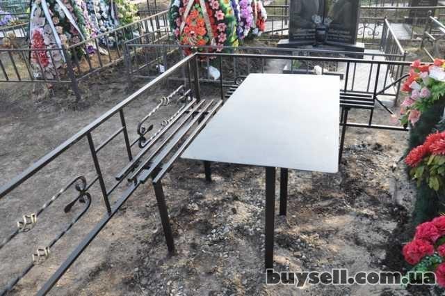 """Лавочки и столы мет.  на кладбище,  """"Броневик"""" Днепропетровс изображение 2"""