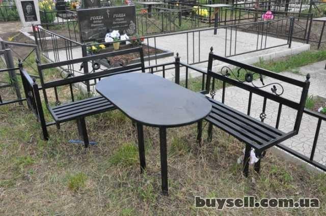 """Лавочки и столы мет.  на кладбище,  """"Броневик"""" Днепропетровс изображение 5"""