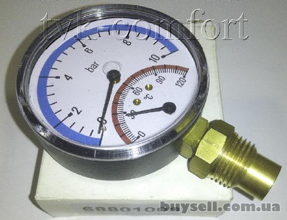 "Термоманометр вертикальный 1/2""-120*C-10bar Watts арт.68801000"