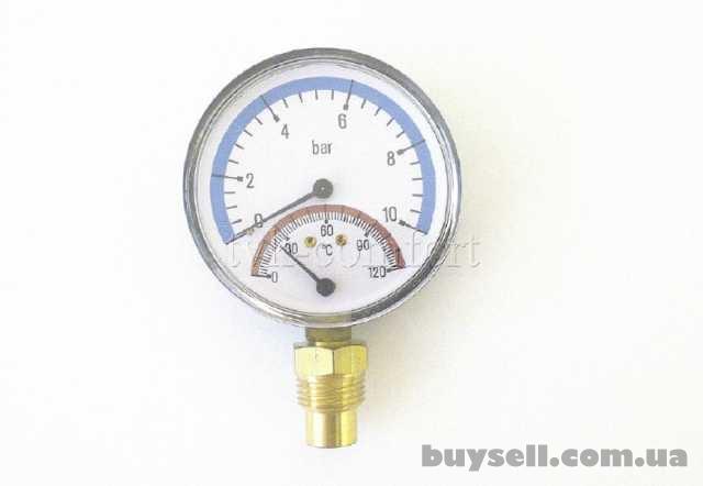 """Термоманометр вертикальный 1/2""""-120*C-10bar Watts арт.68801000 изображение 4"""