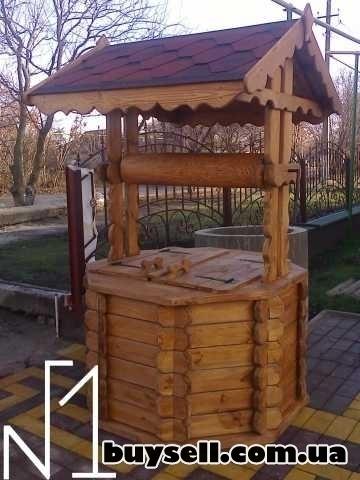 Мельница  декоративная из дерева изображение 4