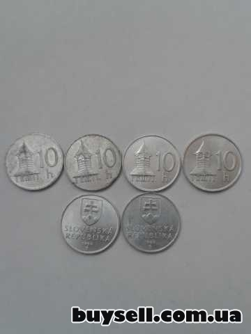 Монеты Словакии 1, 2, 5, 10 крон 1982-98г. изображение 4