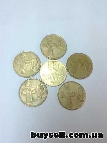 Монеты Словакии 1, 2, 5, 10 крон 1982-98г. изображение 3