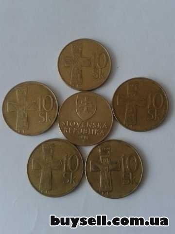 Монеты Словакии 1, 2, 5, 10 крон 1982-98г. изображение 2