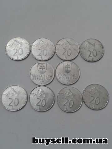 Монеты Словакии 1, 2, 5, 10 крон 1982-98г. изображение 5