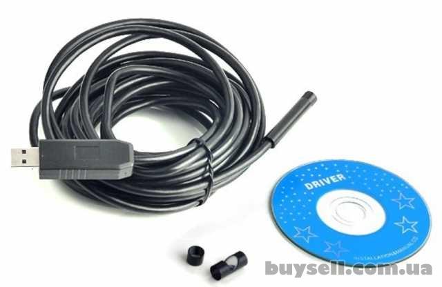 Эндоскоп ( видеокамера,  USB камера )  5 метров +зеркало, OTG кабе изображение 3