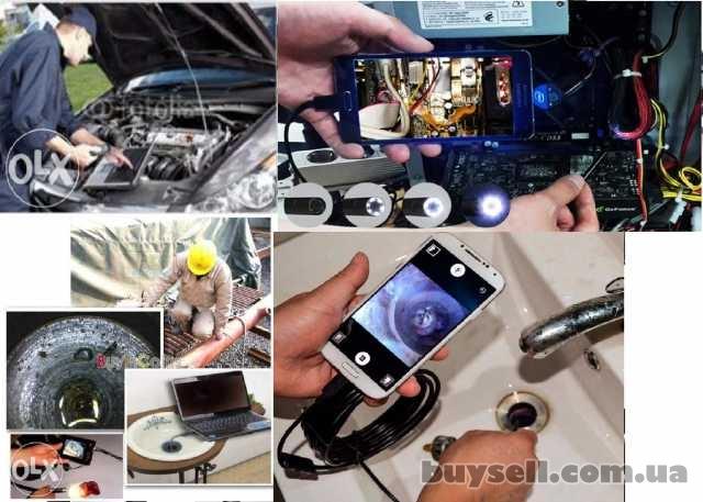 Эндоскоп ( видеокамера,  USB камера )  5 метров +зеркало, OTG кабе изображение 2