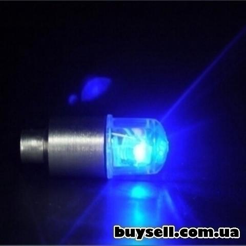 Авто-мото-вело аксессуары неоновый синий-красный строб светодидные изображение 5