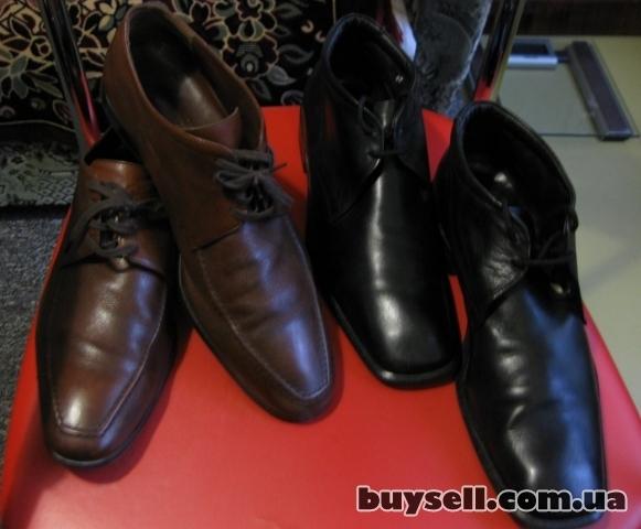 Фирменные мужские туфли,  размер 42-43. изображение 2