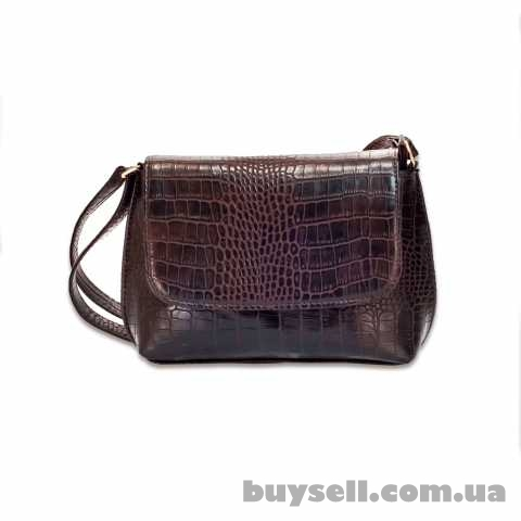 Женская сумка MASCO (МАСКО)  Dark Chocolate Crocodile clutch