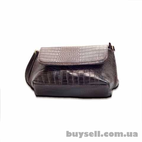 Женская сумка MASCO (МАСКО)  Dark Chocolate Crocodile clutch изображение 2