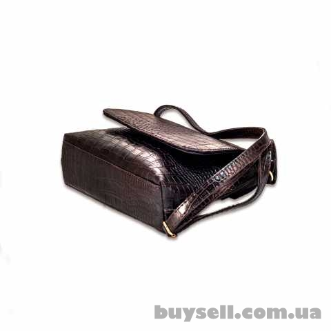 Женская сумка MASCO (МАСКО)  Dark Chocolate Crocodile clutch изображение 4