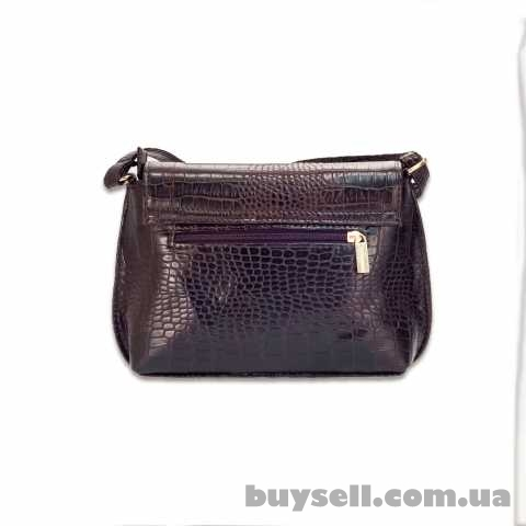 Женская сумка MASCO (МАСКО)  Dark Chocolate Crocodile clutch изображение 3